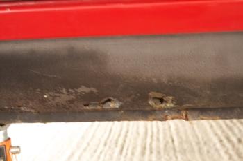 Porsche 924S Sill Rust