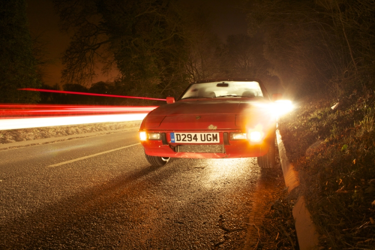 Porsche 924S Night Shot 2