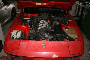 Porsche 924S Engine Bay