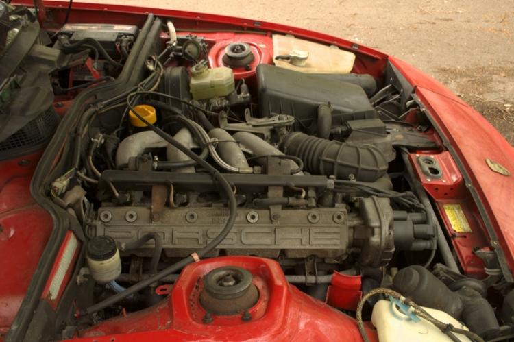 Porsche 924S Engine Bay
