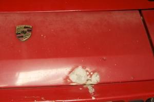 Porsche 924 S Badge Panel Dent