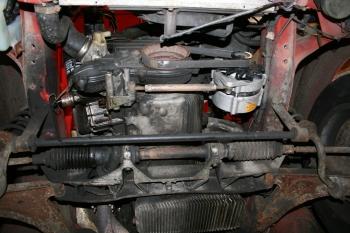 Porsche 924 S Underside Engine
