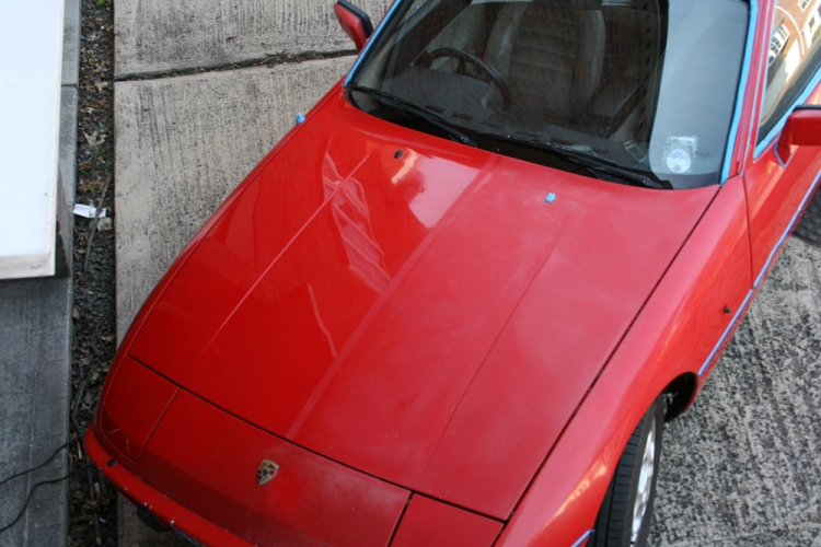 Porsche 924 S Paint Before After