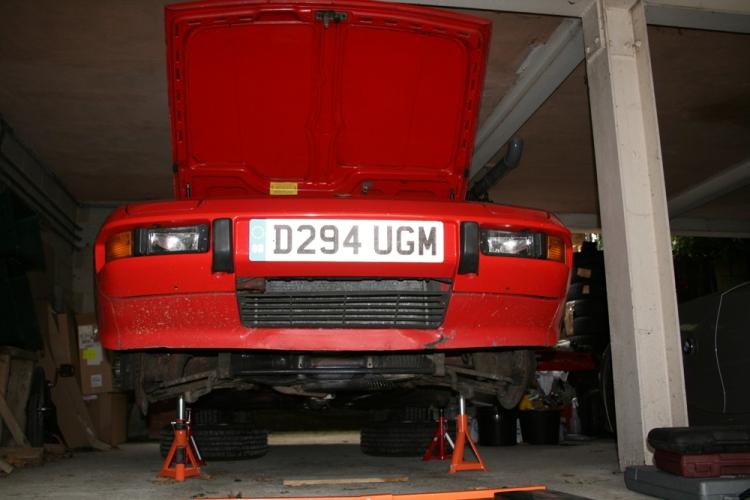 Porsche 924 S on stands