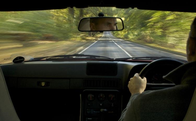 Porsche 924 S Interior Driving