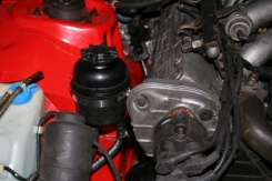 Porsche 924 Steering Reservoir Fitted